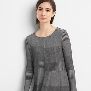GAP Long Sleeve Swing Dress Charcoal size Small